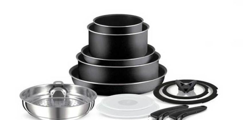 £12 instead of £39.99 (from Elite Housewares) for a Tefal Ingenio removable pan handle, £29 for a three-piece Tefal Ingenio pan set with detachable handles, £37 for a four-piece set, £47 for a five-piece set, £59 for a seven-piece set, or £109 for a 13-piece set - save up to 70% from Wowcher