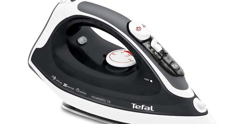 £27.99 instead of £56 (from Elite Housewares) for a black Tefal 2300w ceramic steam iron – save 50% from Wowcher