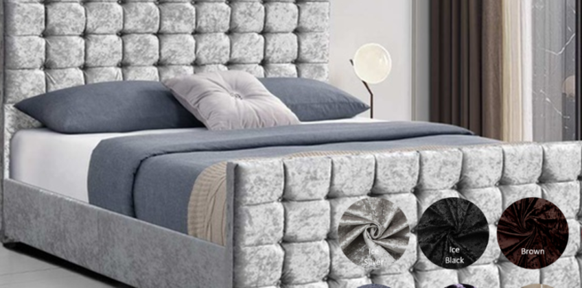 From £289.99 for a single, small double (£324.99), double (£334.99) or king (£354.99) bedstead bed with cubed headboard from Dreamtouch Mattresses LTD - save up to 64% from Wowcher