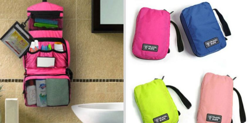 £4 instead of £19.99 for a hanging travel wash bag from Hey4Beauty - save 80% from Wowcher