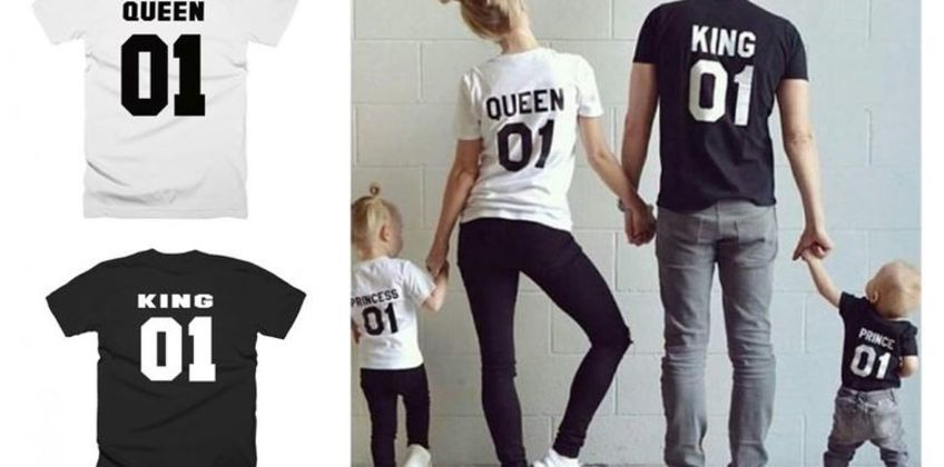 £5 instead of £19.99 for a Family T-Shirt - King, Queen, Prince & Princess from Hey4Beauty - save 75% from Wowcher