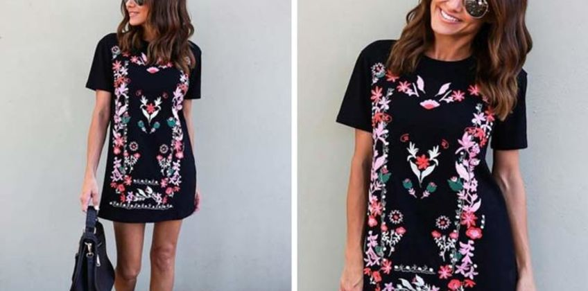 £9 instead of £19.99 (from Pinkpree) for a floral tunic dress – save 55% from Wowcher