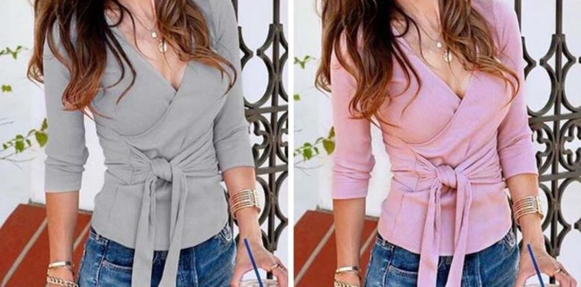 £7.99 instead of £29.99 (from MB Logic) for a V-neck wraparound top –save 73%  from Wowcher
