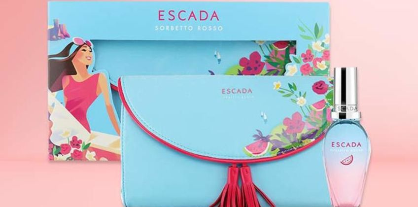 £16.99 for an Escada Sorbetto Rosso gift set 30ml - save 19% from Wowcher