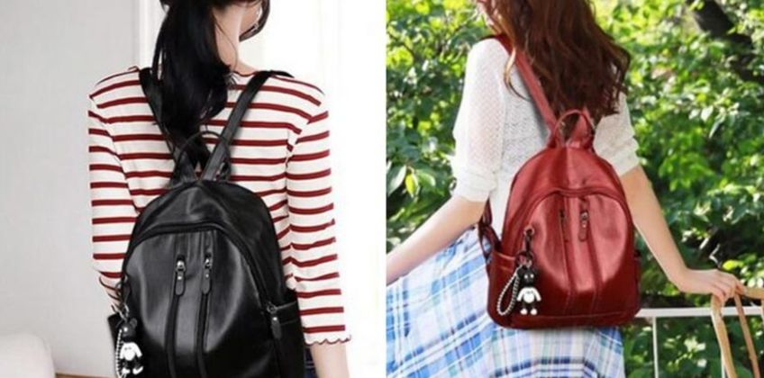£6.99 instead of £19.99 (from MBLogic) for a PU double zipped backpack! - save  65% from Wowcher