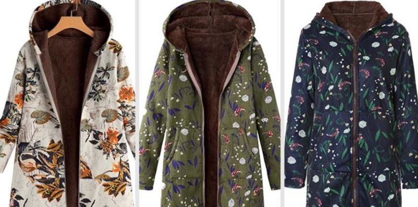 £18 instead of £59.99 (from Blu Fish) for a floral fleece-lined coat - choose from five designs and save 70% from Wowcher