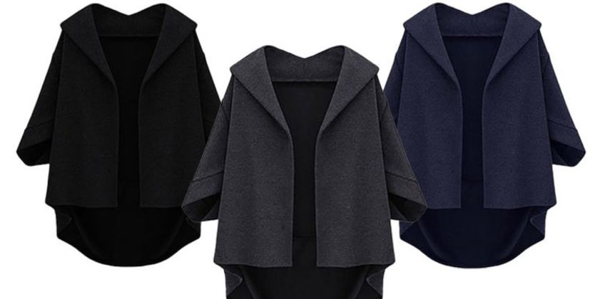 £11 instead of £39.99 (from Hey4Beauty) for a women's bat wing winter coat - save 72% from Wowcher