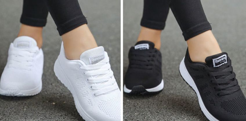 £12 (from BacktoGoo) for a pair of women's breathable running trainers  from Wowcher