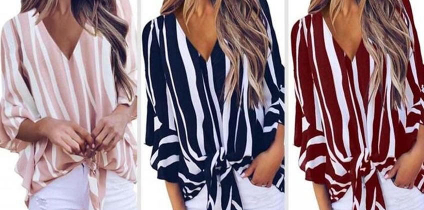 £7 instead of £29.99 (from MBLogic) for a striped bell-sleeved shirt - save 77% from Wowcher