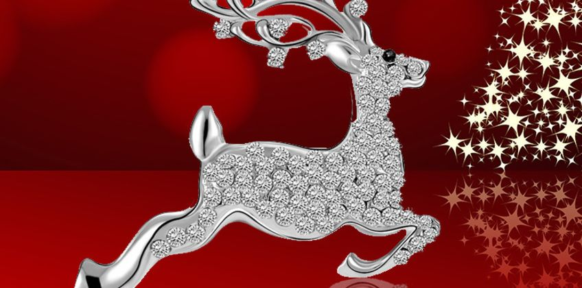 £6.99 instead of £59 (from Your Ideal Gift) for a reindeer brooch made with crystals from Swarovski - save 88% from Wowcher