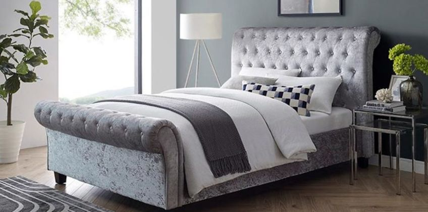 £199 (from the Furniture Department) for a double crushed velvet bed, £239 for a king, £269 for a double and mattress and £299 for a king and mattress - save up to 86% from Wowcher