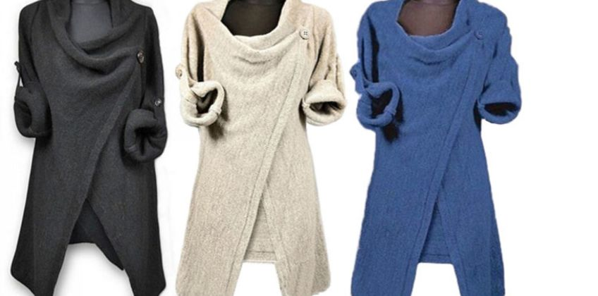 £9.99 instead of £29.99 for a Women's Loose Cardigan Sweater - 3 Colours to choose from My Brand Logic - save 67% from Wowcher
