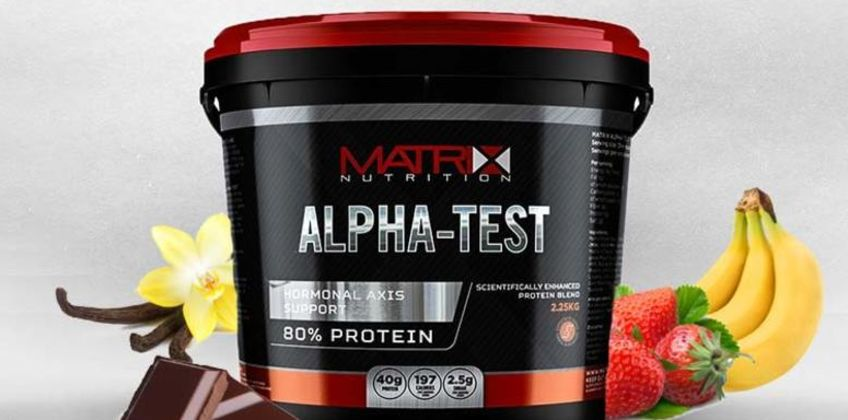£27.99 instead of £46.99 (from CJ Offers) for a 2.25kg tub of Matrix Alpha-Test protein power - save 40% from Wowcher