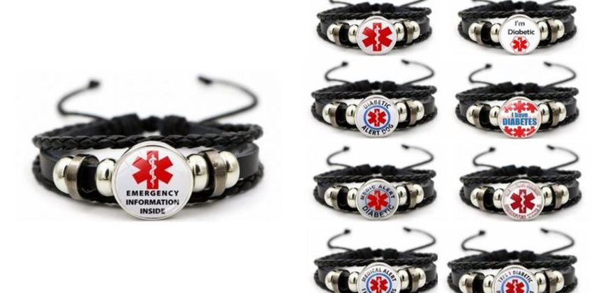 £2.99 instead of £19.99 for a medical alert diabetes bracelet - choose from nine designs from Hey4Beauty - save 85% from Wowcher