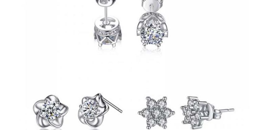 £7.99 instead of £39 (from Your Ideal Gift) for a set of three pairs of crystal earrings - save 80% from Wowcher