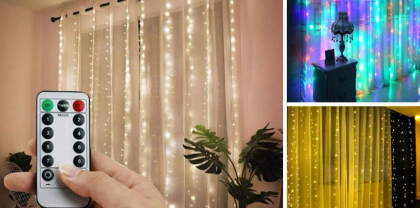 From £5.99 instead of £19.99 (from WhoGotThePlan) for a pair of LED curtain lights - choose from two sizes and save up to 70% from Wowcher