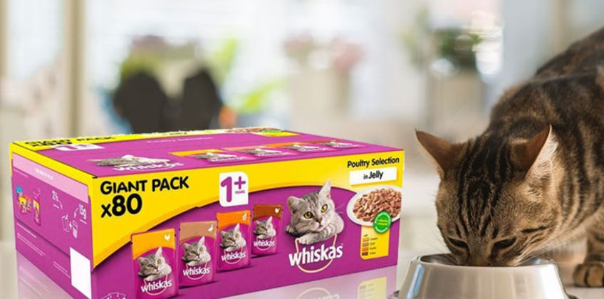From £17.99 instead of £23.99 (from Trojan Electronics) for 80 x 100g Whiskas cat food pouches - save up to 25% from Wowcher
