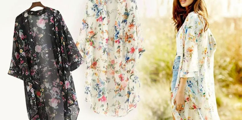£5 (from Secret Storz) for a floral kimono  from Wowcher