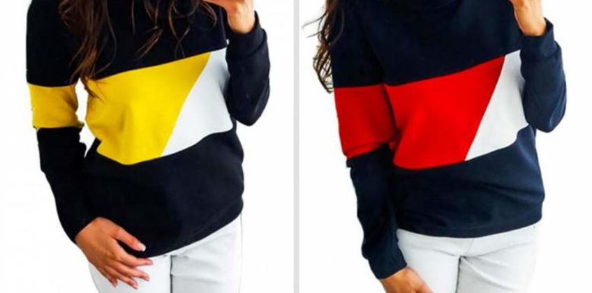 £7.99 instead of £29.99 (from hey4beauty) for a round neck colour block jumper - save 73% from Wowcher
