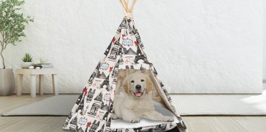 £19.99 instead of £35.01 (from MHStar) for a PawHut portable pet teepee - save 43% from Wowcher