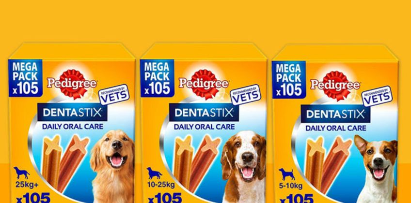 From £18.99 instead of £33.99 (from Trojan) for a pack of Pedigree DentaStix dental chews - save up to 44% from Wowcher