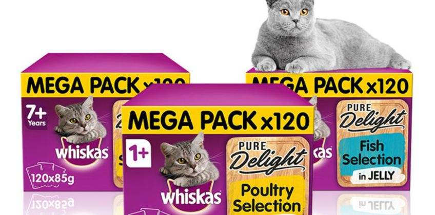 £32.98 instead of £41.97 (from Trojan) for 120 x 85g Whiskas 7+ Pure Delight poultry selection in jelly, or £32.99 for 120 x 85g Whiskas 1+ Pure Delight poultry or fish selection in jelly - save up to 21% from Wowcher