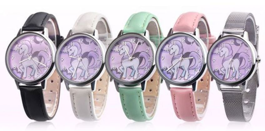 £4.99 instead of £18 (from Spezzee) for a children's unicorn watch – choose from white, black, pink, blue or silver - Save 72% from Wowcher