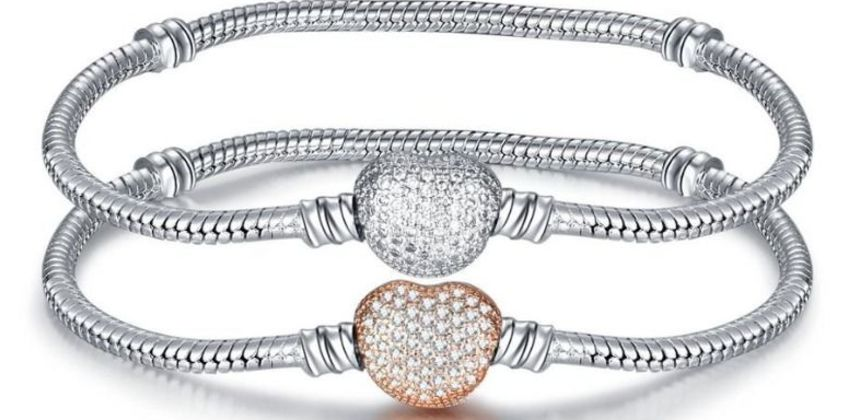 £14 instead of £49 for a Silver Pave Snake Chain Bracelet - 2 colours to choose from Genova International Ltd - save 71% from Wowcher