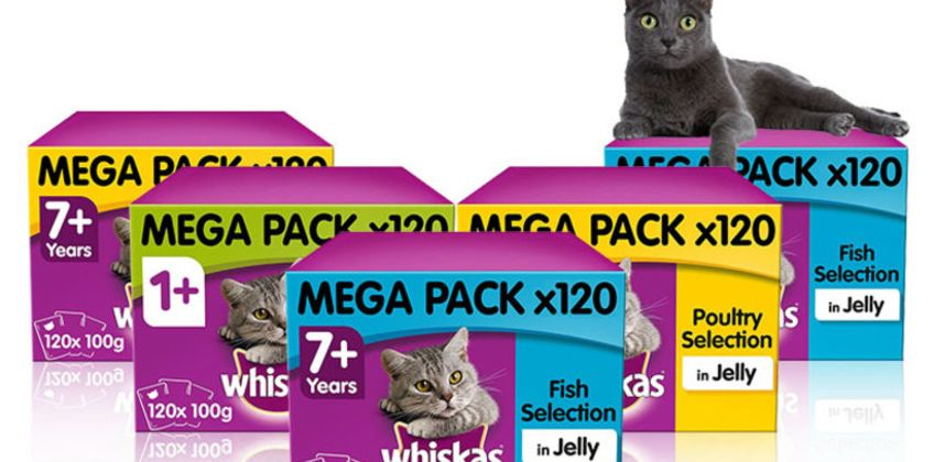 £29.99 instead of £38.97 (from Trojan) for a selection of Whiskas cat food in jelly pouches - save 23% from Wowcher