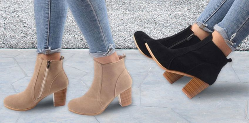 £12 instead of £39.99 (from My Blu Fish) for a pair of ladies mid-heel ankle boots in black, khaki or red – choose from UK shoe sizes 4-7 and save 70%  from Wowcher
