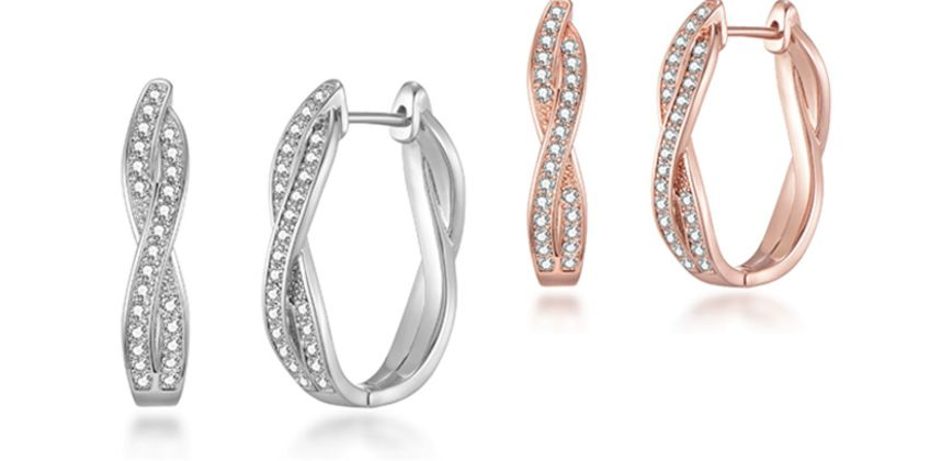 £9.99 instead of £22 (from Philip Jones) for a pair of crossover hoop earrings - choose from two colours and save 55%  from Wowcher