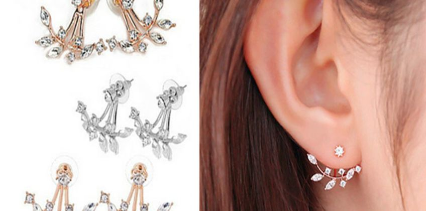 £4.99 for a pair of crystal leaf drop earrings from Solo Act Ltd  from Wowcher