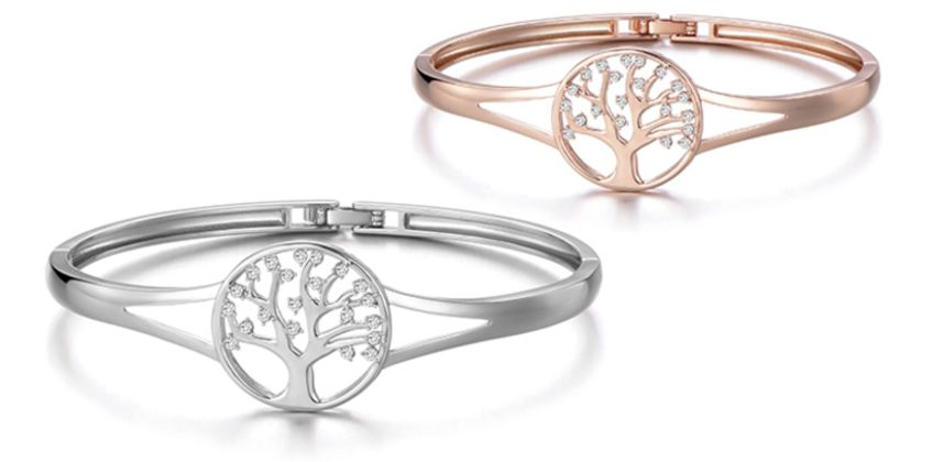 £9.99 instead of £20 (from Philip Jones) for a Tree of Life bangle - choose from two colours and save 50% from Wowcher