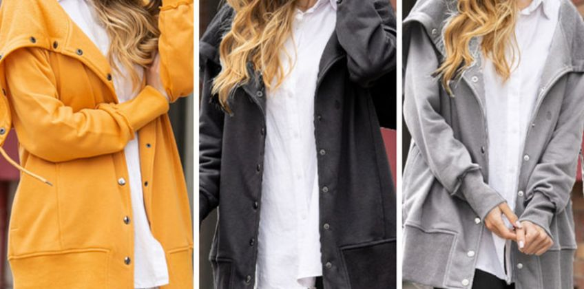 £16.99 instead of £39.99 (from Hey4Beauty) for a casual hooded coat - choose from five colours and save 58% from Wowcher