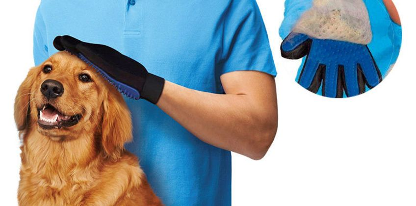 £4.99 instead of £24.99 for a Pet Grooming Glove from London Exchain Store - save 80% from Wowcher
