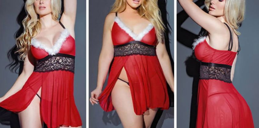 £8.99 instead of £37 (from Fifty Shades of Lust) for a Christmas lingerie set - save 76% from Wowcher