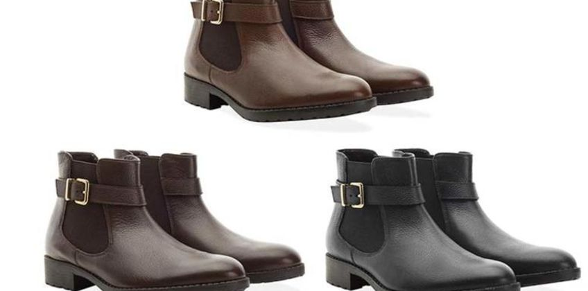 £27.99 instead of £65 (from Redfoot) for a ladies buckle Chelsea boot - choose from black, brown and tan and save 57% from Wowcher