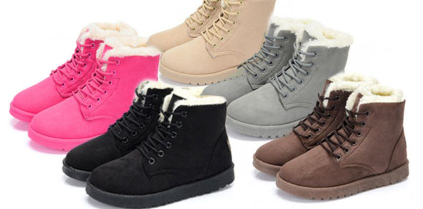 £11.99 instead of £29.99 (from hey4beauty) for a pair of faux fur lace-up snow boots - save 60% from Wowcher