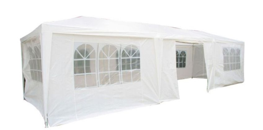 £64.99 (from Garden & Camping) for a 6x3m large white Airwave® party tent or £84.99 instead of £199.99 for a 9x3m white party tent from Wowcher