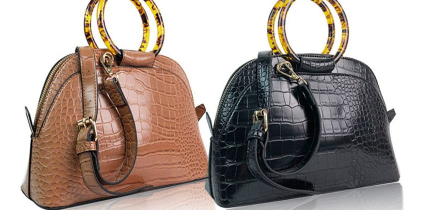 £14.99 (from Belle Accessories) for a faux leather 'croc' tote bag with acrylic handles - choose from two colours from Wowcher