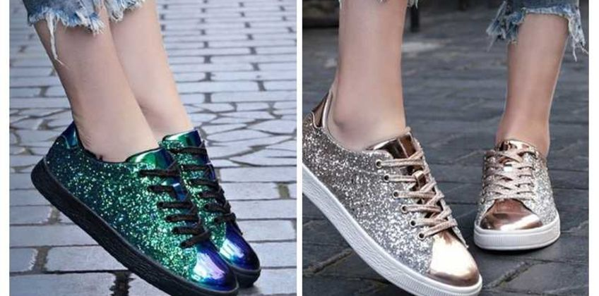 £22 instead of £49.99 (from Pink Pree) for a pair of glitter trainers - save 56% from Wowcher