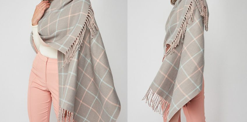 £7.99 instead of £13.99 for a Cascabelle two-sided tartan scarf - save 43% from Wowcher