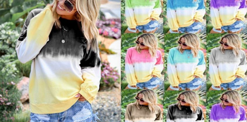 £8.99 instead of £29.99 for a Tie Dye Jumper - 9 Colours to choose from Hey4Beauty - save 70% from Wowcher