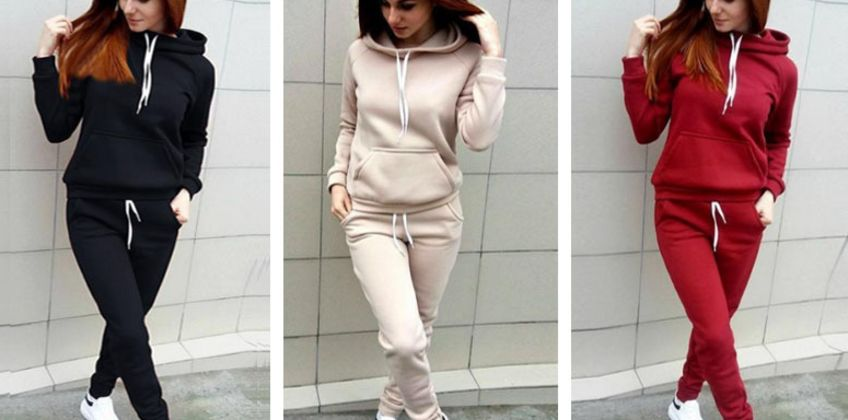 £12.99 instead of £29.99 for a Fleece Jogging Set Pocket Hoodie + Jogging Bottoms from Hey4Beauty - save 57% from Wowcher