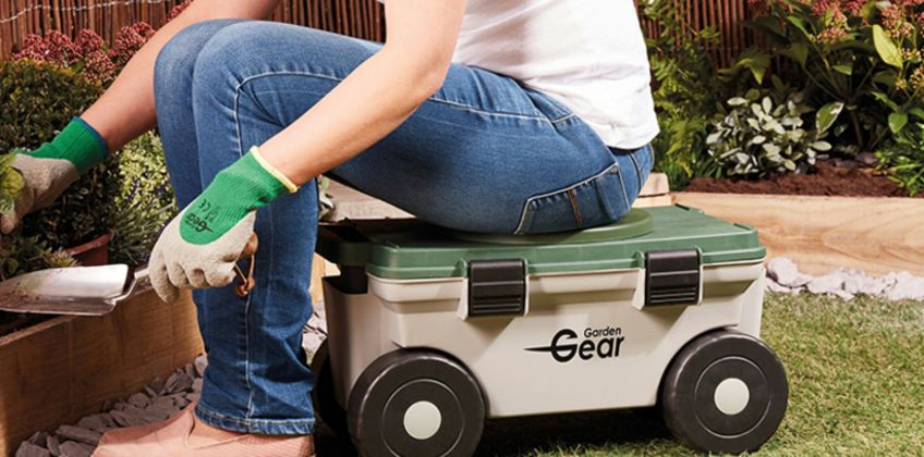 £19.99 instead of £49.99 (from CJ Offers) for a garden mobile rotating seat and tool storage - save 60% from Wowcher