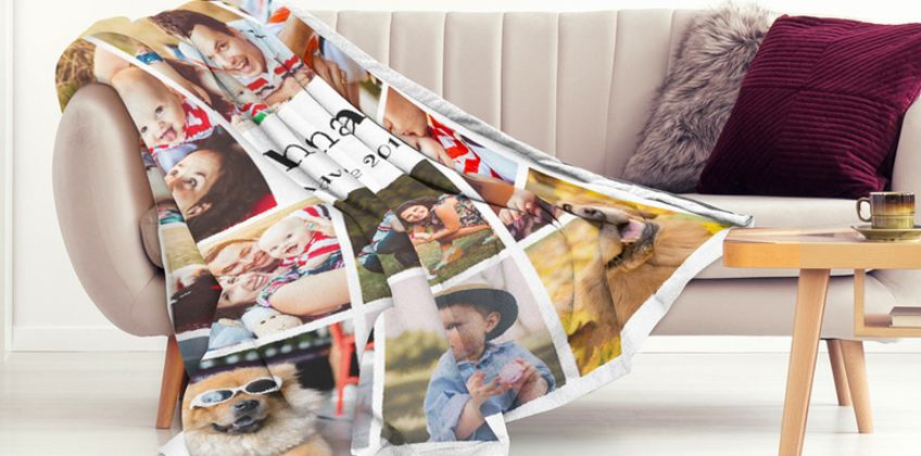 From £8 instead of £78.90 (from Printerpix) for a personalised photo blanket - save up to 90% from Wowcher