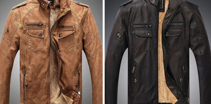 £29.99 (from DomoSecret) for a men's faux leather jacket - choose from four colours from Wowcher
