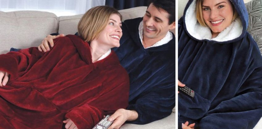 £14 instead of £39.99 (from WowWhatWho) for a cosy oversized blanket with hood and sleeves - save 65% from Wowcher