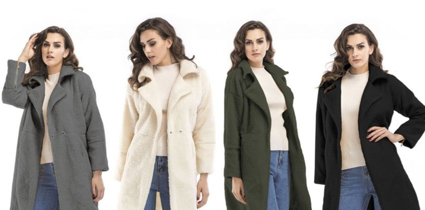 £22.99 instead of £59.99 (from Wow What Who) for a plush long sleeve mid-length coat - save 62% from Wowcher