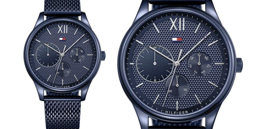 £109 instead of £399 (from Best Watch Company) for a Tommy Hilfiger 1791421 men's Damon stainless steel blue watch - save 73% from Wowcher